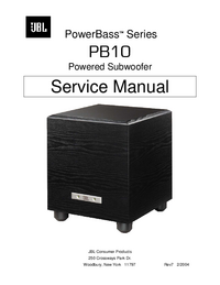 Manual de servicio JBL PowerBass PB10