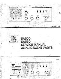 Service Manual JBL SA600