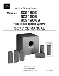 Manuale di servizio JBL SCS150SI