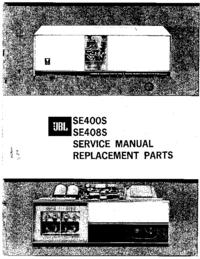 Manual de serviço JBL SE400S