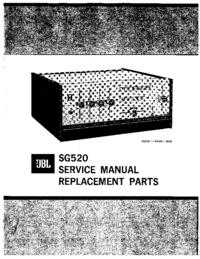 manuel de réparation JBL SG520