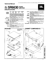 Manual de serviço JBL SR6630