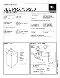 Manual de servicio JBL PRX735
