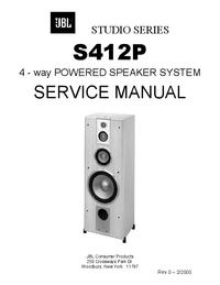 manuel de réparation JBL S412P