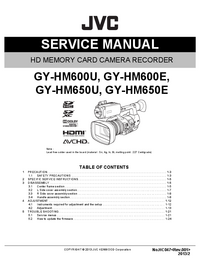 Service Manual JVC GY-HM600E