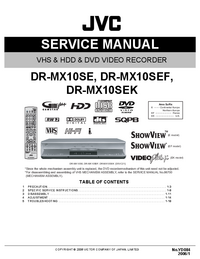 Service Manual JVC DR-MX10SEF