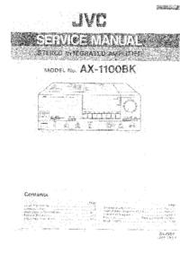 Manuale di servizio JVC AX-1100BK