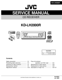 Manual de serviço JVC KD-LH2000R