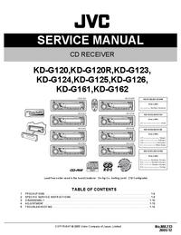 Servicehandboek JVC KD-G162