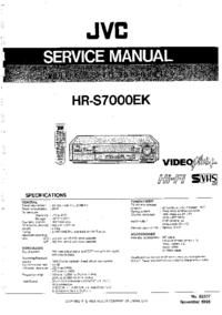 Руководство по техническому обслуживанию JVC HR-S7000EK