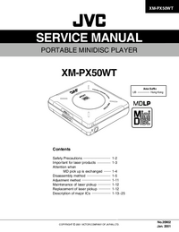 Service Manual - JVC XM-PX50WT - Minidisc player -- Download free
