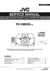 Manuale di servizio JVC FS-1000GR