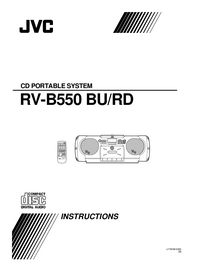 User Manual JVC RV-B550 RD