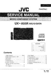 Manual de serviço JVC UX-A55R
