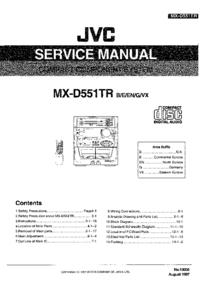 Servicehandboek JVC MX-D551TR