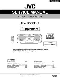 Dodatek Instrukcja Serwisowa JVC RV-B550BU