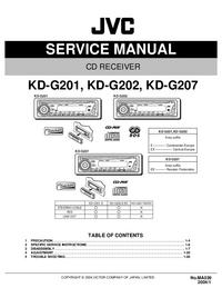 Руководство по техническому обслуживанию JVC KD-G201