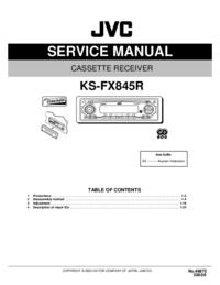 Serviceanleitung JVC KS-FX845R