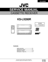 Руководство по техническому обслуживанию JVC KS-LX200R