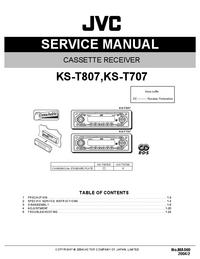 Manual de serviço JVC KS-T807