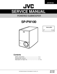 Manual de servicio JVC SP-PW100