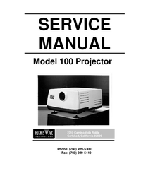 Servicehandboek JVC Model 100