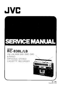 Manual de serviço JVC RC-838L