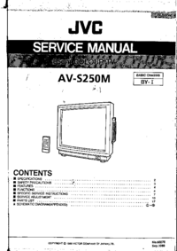 Manual de serviço JVC AV-S250M