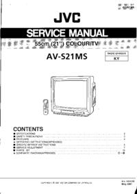 Руководство по техническому обслуживанию JVC AV-S21MS