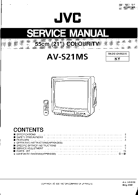 Serviceanleitung JVC AV-S21MS