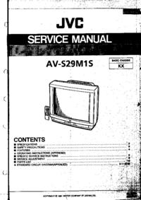 Serviceanleitung JVC AV-S29M1S
