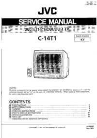 Serviceanleitung JVC C-14T1