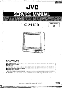 Руководство по техническому обслуживанию JVC C-211ED