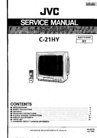 Manual de servicio JVC C-21HY