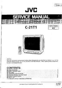Manual de servicio JVC C-21T1
