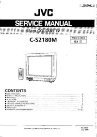 Руководство по техническому обслуживанию JVC C-S2180M