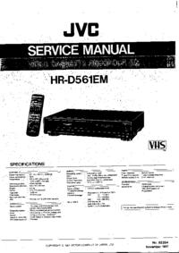 Руководство по техническому обслуживанию JVC HR-D561EM
