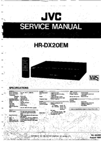 Service Manual JVC HR-DX20EM