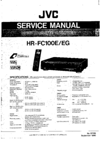 Manual de servicio JVC HR-FC100EG