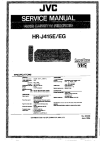 Manual de serviço JVC HR-J415E