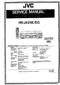 manuel de réparation JVC HR-J425EG