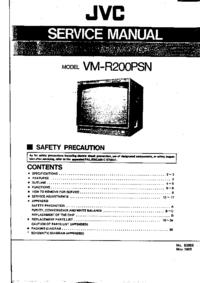 manuel de réparation JVC VM-R200PSN