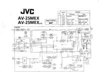 Schéma cirquit JVC AV-25MEX