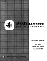 Manual do Usuário Johnson Viking Invader 2000