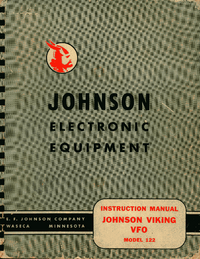 Service and User Manual Johnson Viking 122