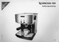 User Manual Jura Nespresso N80