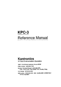Service and User Manual Kantronics KPC-3