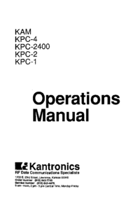 Gebruikershandleiding Kantronics KPC-1