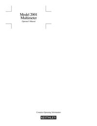 Manual del usuario Keithley 2001