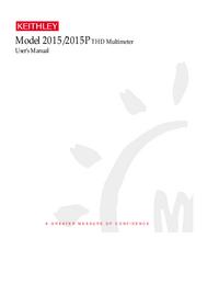 Gebruikershandleiding Keithley 2015P